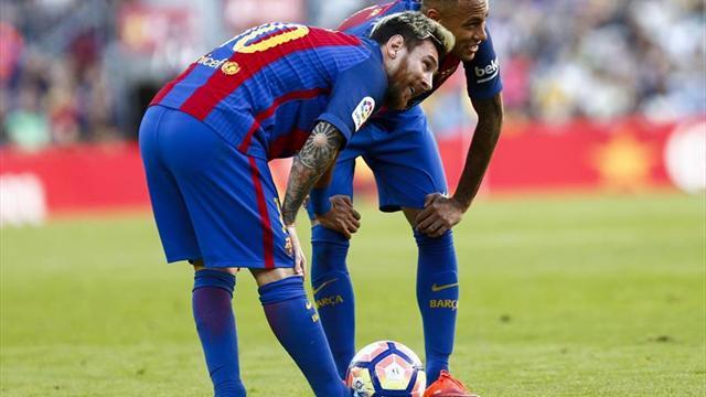Messi y Umtiti, titulares en el Barcelona; Kun Agüero, suplente en el City