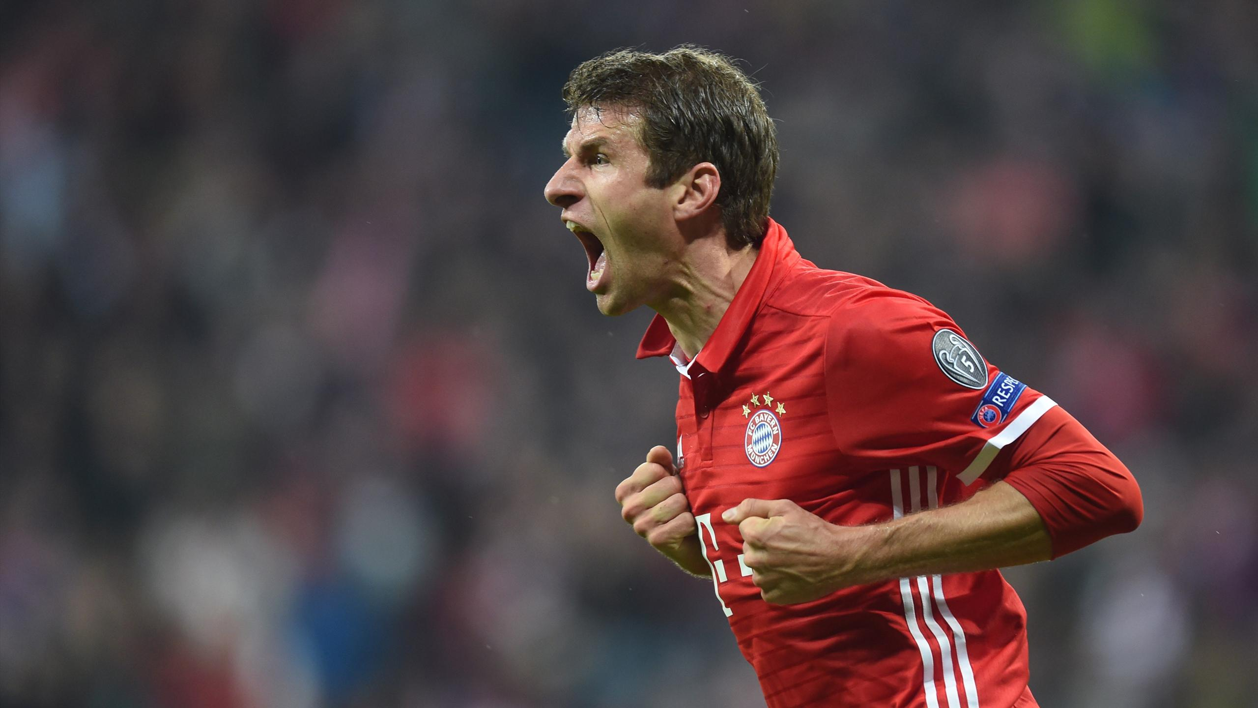 Thomas Mûller, l'attaquant du Bayern Munich, a ouvert le score face au PSV Eindhoven.