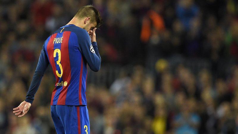 Gerard Piqué, le défenseur central du Barça, est sorti sur blessure face à Manchester City.