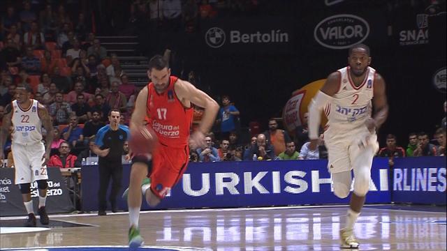 Eurocup 2017, Valencia Basket-Hapoel Jerusalem: Los de Stoudemire se anotan el pulso físico (77-81)