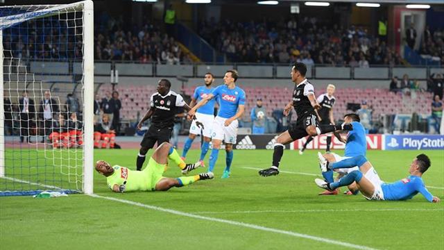 2-3. El Besiktas de Aboubakar vence en Nápoles y reabre el Grupo B