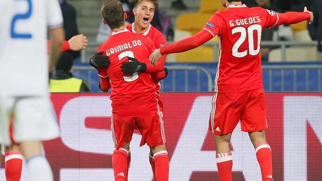0-2. La pegada del Benfica frena el ímpetu del Dinamo