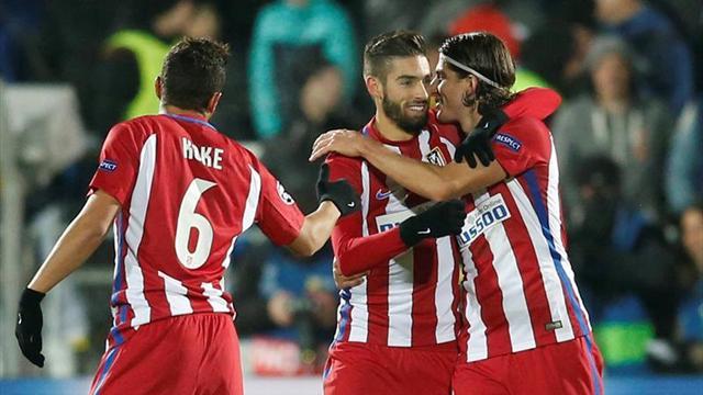 0-1. Carrasco mantiene el pleno del Atlético