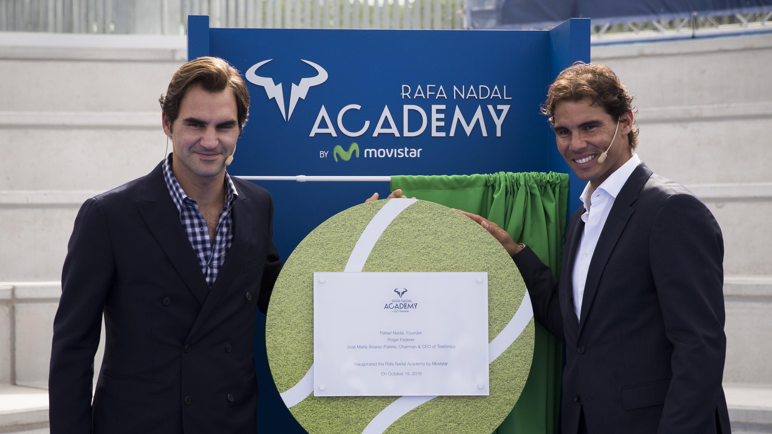 Roger Federer, Rafael Nadal à Manacor le 19 octobre 2016