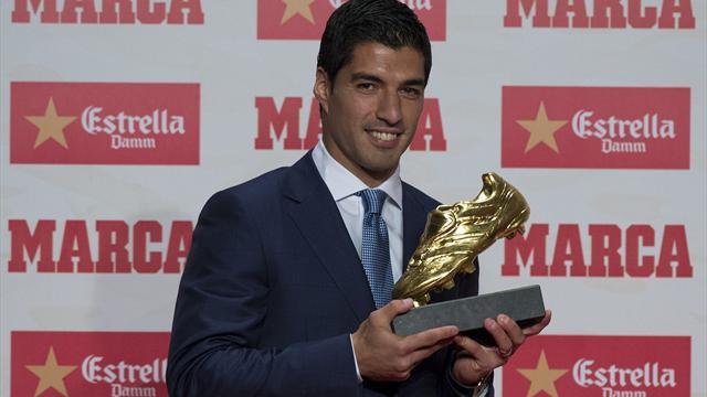 Scarpa d'oro a Suarez una stagione da 40 gol
