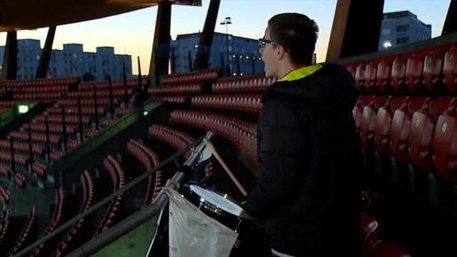 Il tifoso solitario dell'FC Le Mont: è l'unico che segue la squadra in trasferta