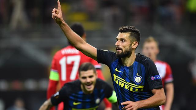 Candreva strike gives Internazionale win over Southampton