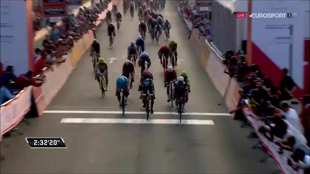 """Der Sprint um den Sieg auf der 2. Etappe der """"Abu Dhabi Tour"""""""