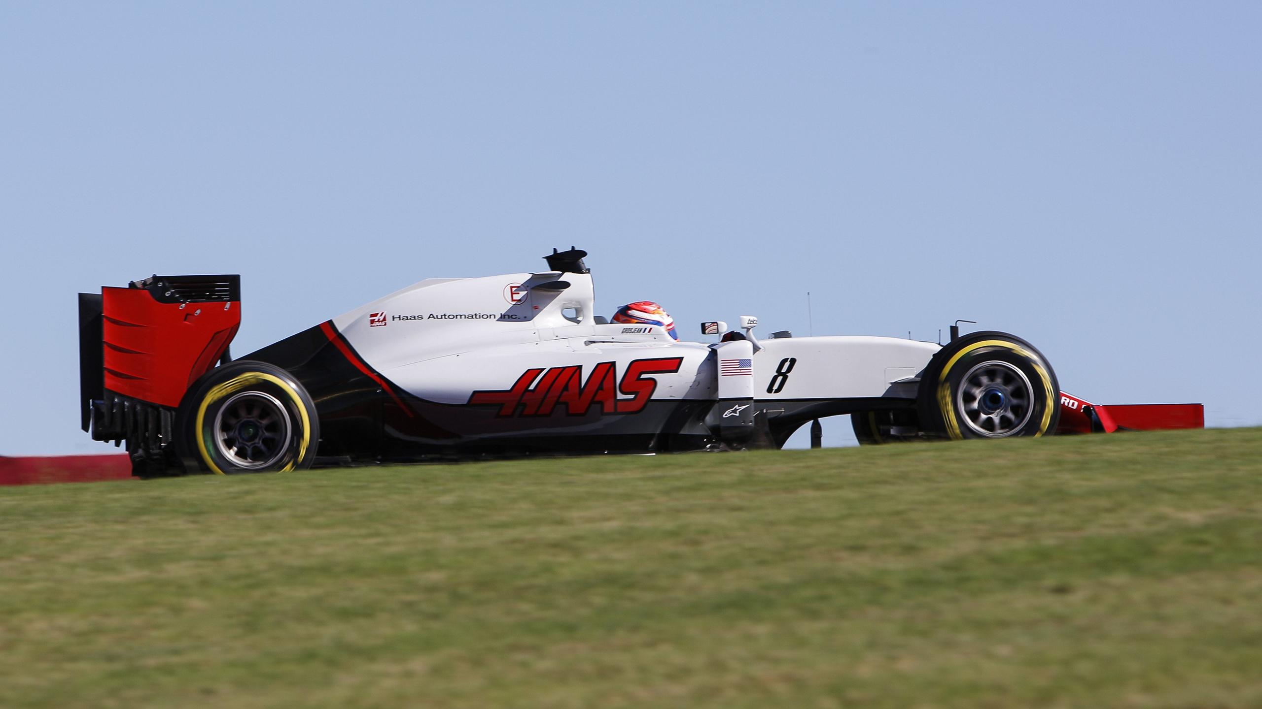 Romain Grosjean (Haas) au Grand Prix des Etats-Unis d'Amérique 2016