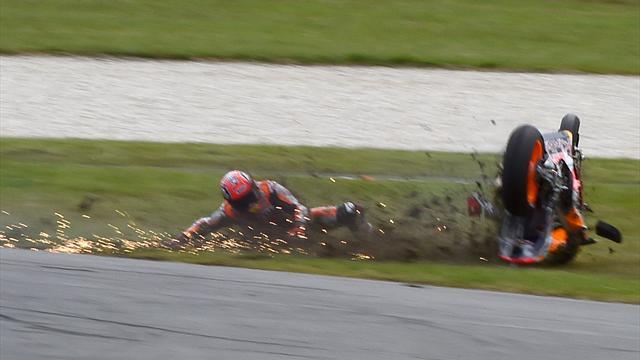 Marc Marquez explains Phillip Island crash - Motorcycling - Eurosport