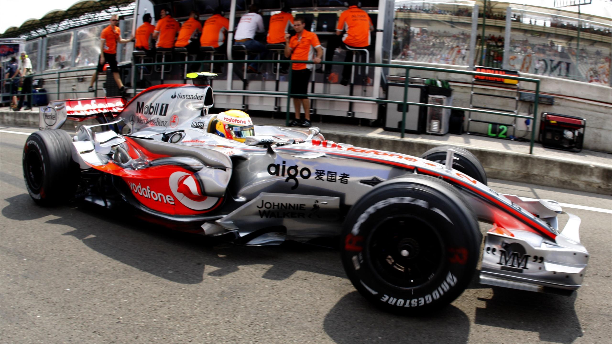 Lewis Hamilton (Mclaren) au Grand Prix de Hongrie 2007