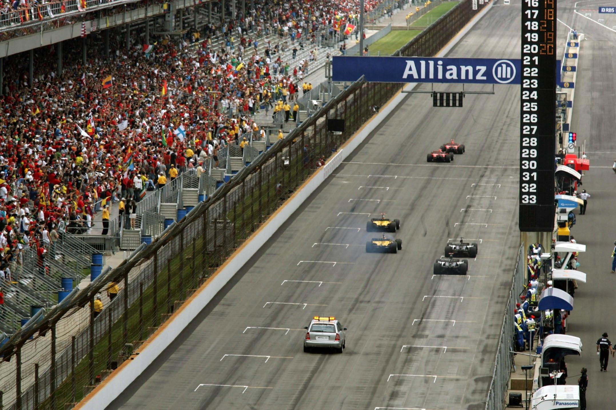 Le départ du Grand Prix des Etats-Unis d'Amérique 2005