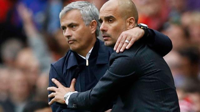 Mourinho et Guardiola traversent une mauvaise passe en Angleterre