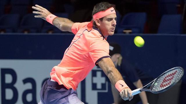 Del Potro cae eliminado en cuartos de final ante japonés Nishikori