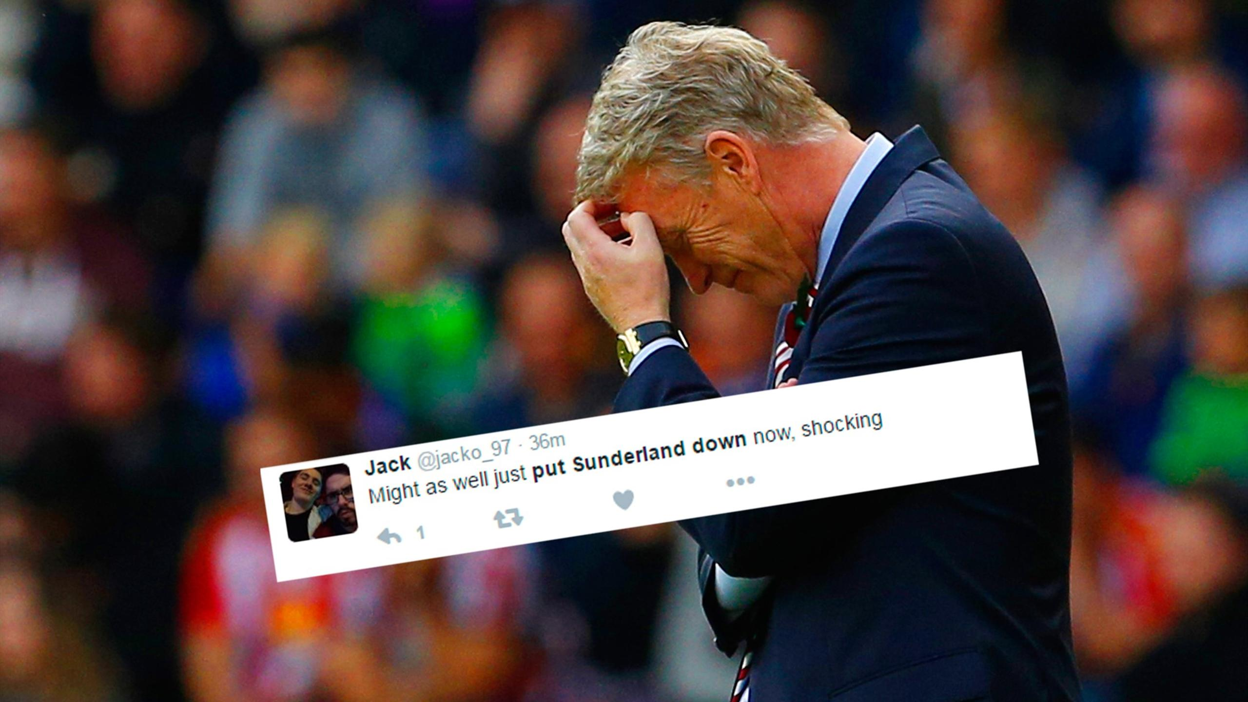 Twitter reaction to Sunderland and boss David Moyes