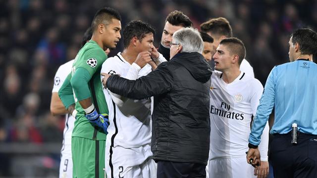 Touché, Thiago Silva a cédé sa place à la mi-temps