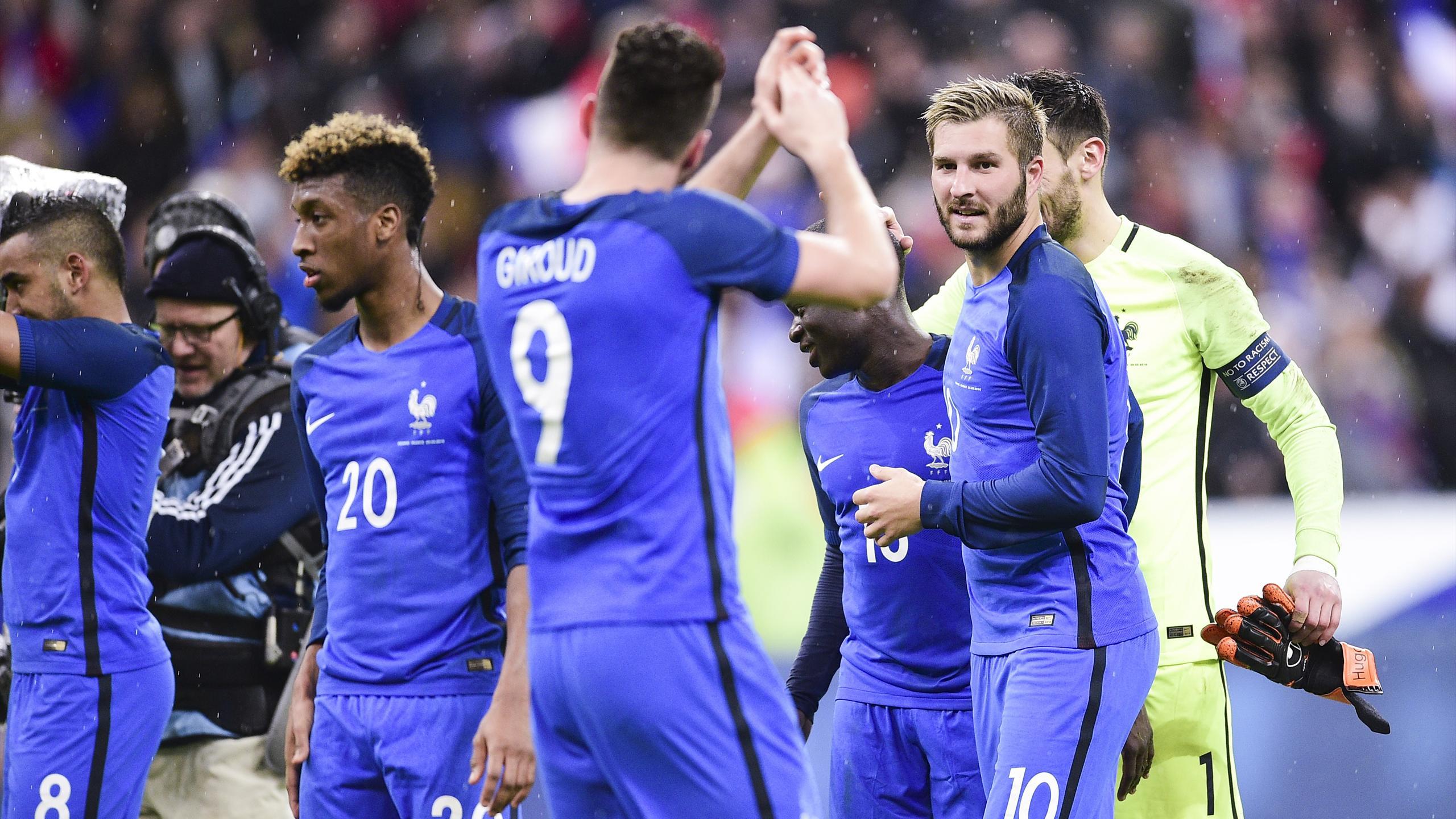 Giroud, Gignac et Coman sous le maillot de l'équipe de France