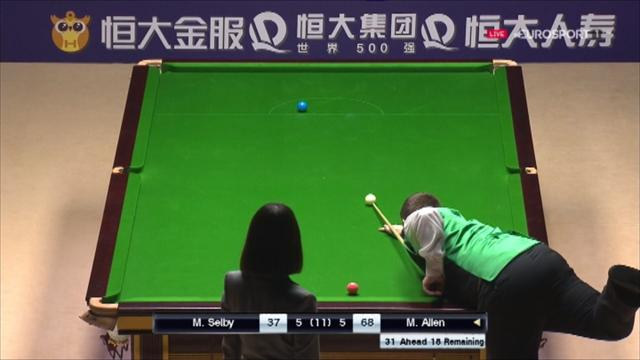 Allen sinks delightful double on green, clinches decisive frame
