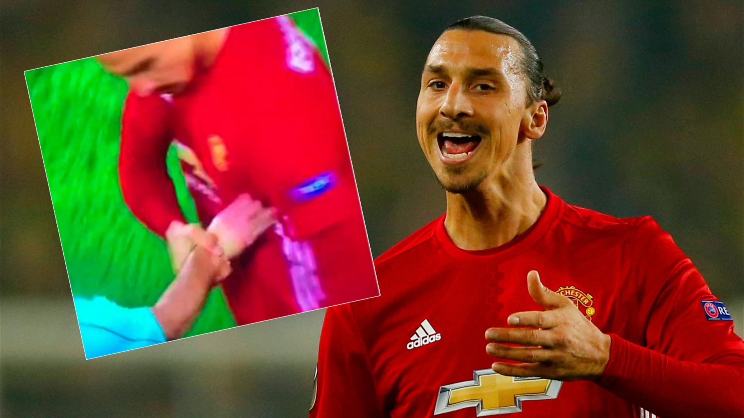 Referee dares to touch Zlatan Ibrahimovic – and his reaction is amazing…