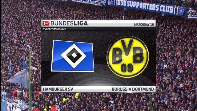 Highlights: Aubameyang hits four in rout of Hamburg