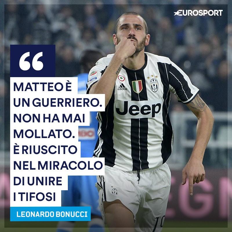 Bonucci, lacrime in diretta per suo figlio Matteo