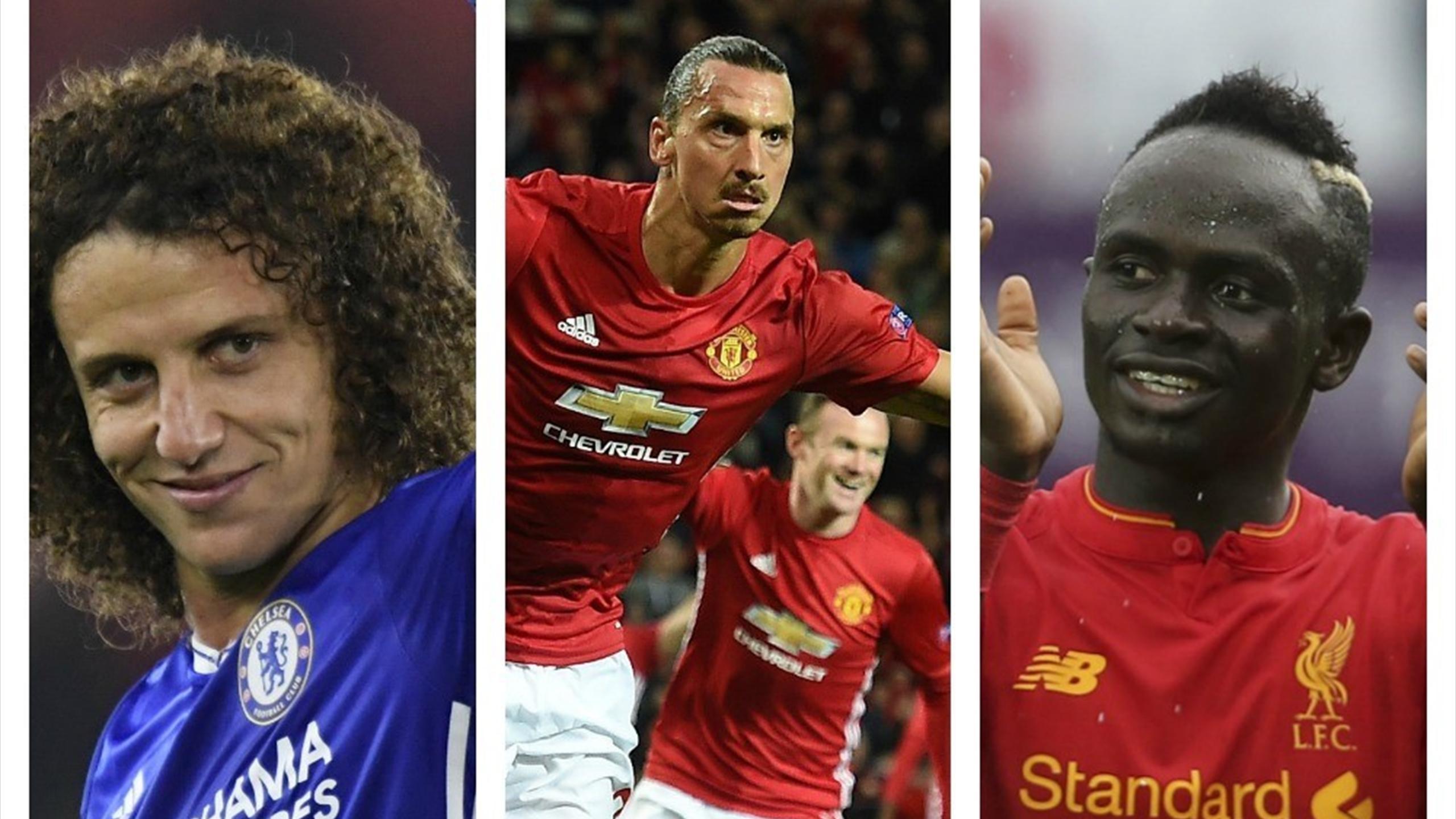 David Luiz, Zlatan Ibrahimovic and Sadio Mane