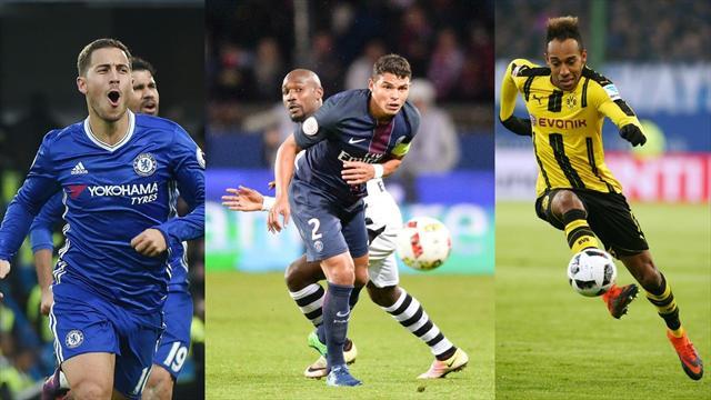 Thiago Silva, Hazard, Aubameyang : l'équipe du week-end ne manque pas de tauliers
