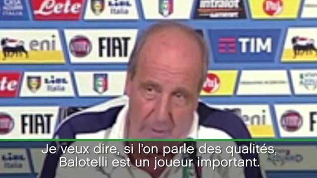 Ventura admet que Balotelli «est bon depuis deux mois» mais «d'autres aspects» le font douter
