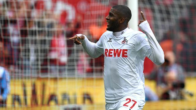 Modeste pointe à 19 buts après un nouveau doublé avec Cologne