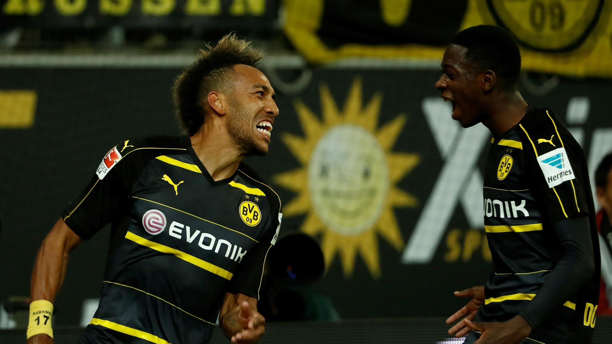 Aubameyang et Dembélé (Dortmund)
