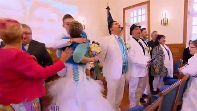 Il déclare son amour pour l'Olympique de Marseille pendant son mariage