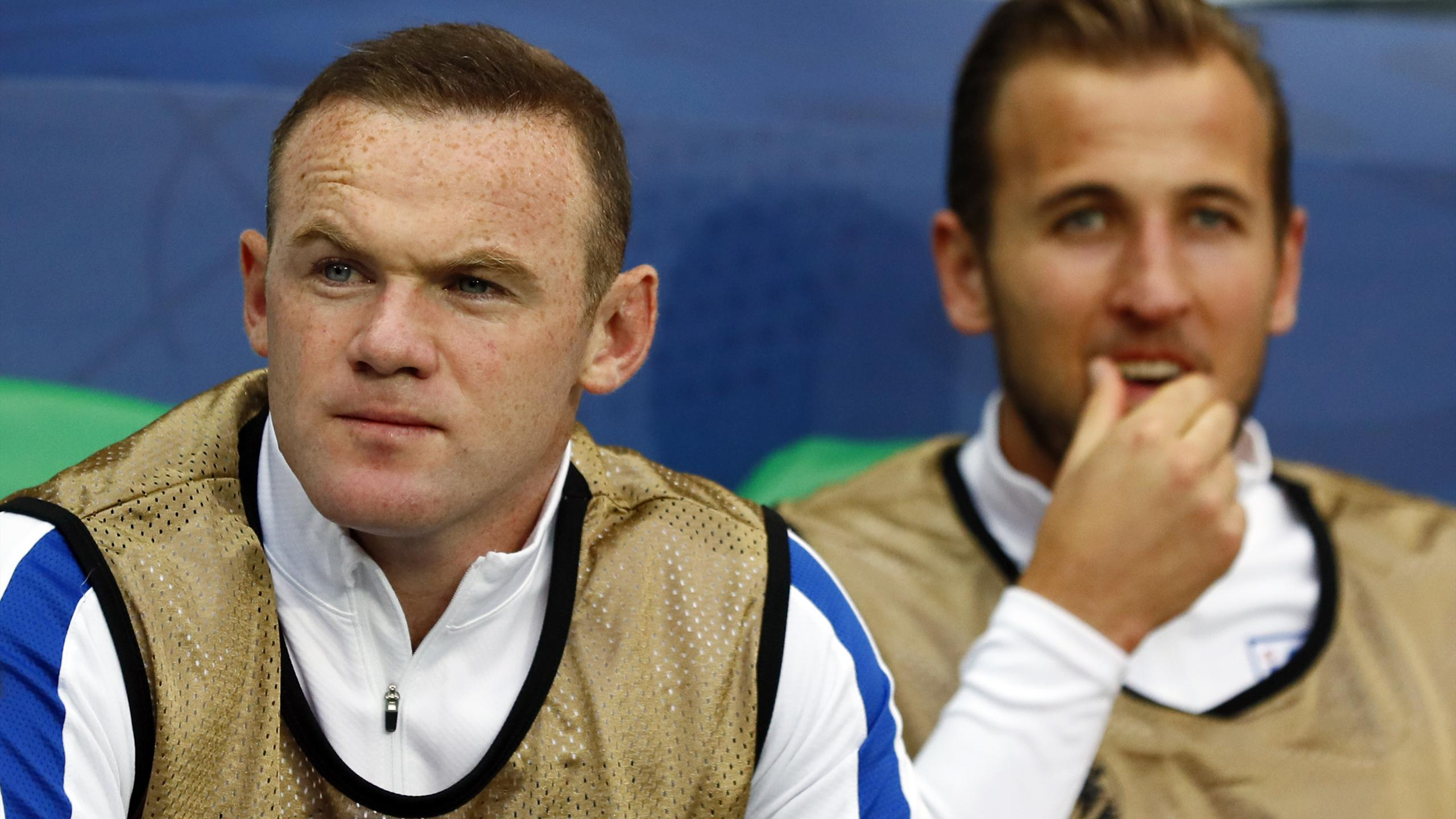 England's Wayne Rooney and Harry Kane
