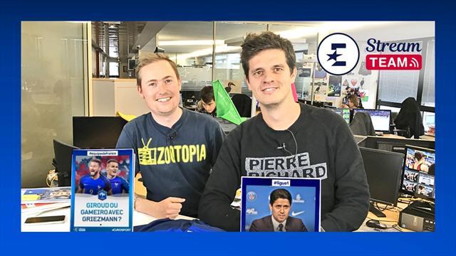 Giroud en pointe avec les Bleus, le mercato du PSG : La Stream Team EN DIRECT !