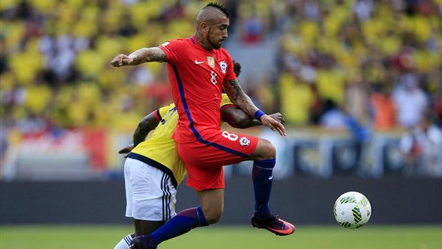 Clasificación Mundial 2018, Colombia-Chile: Un empate que da vida a Argentina (1-1)
