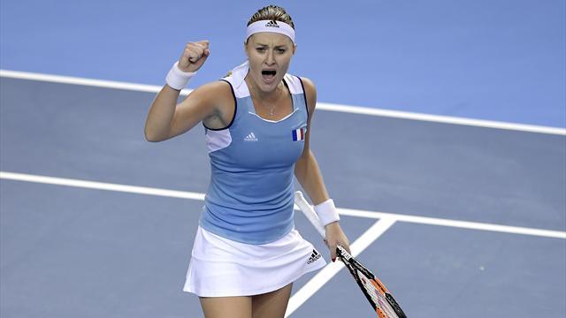 Pliskova wins epic against Mladenovic, Garcia defeats Kvitova in Fed Cup