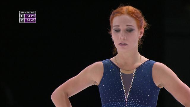 Leonova falls FOUR times in women's free programme