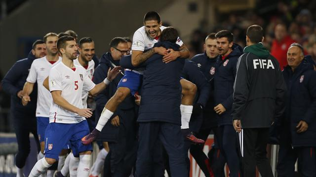 Late Mitrovic header cancels out Bale goal to rescue point for Serbia