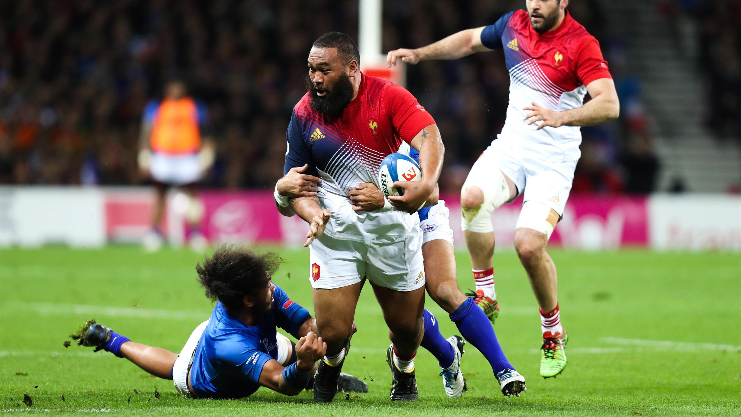 Uini Atonio (XV de France) face aux Samoa - 12 novembre 2016