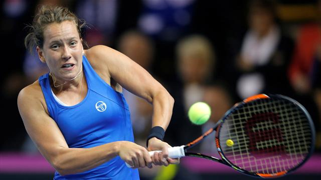Strycova takes final to decisive doubles match with win over Cornet