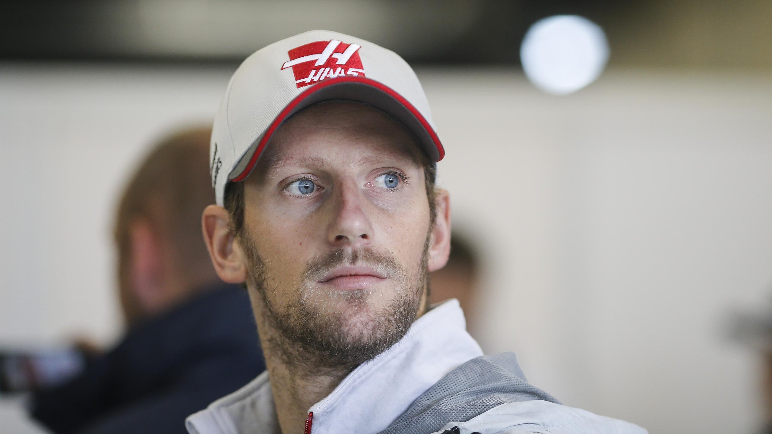 Romain Grosjean (Haas) au Grand Prix du Brésil 2016