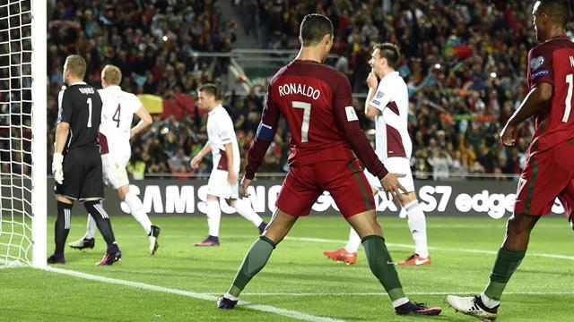 Ronaldo guide le Portugal, la Belgique dévore l'Estonie