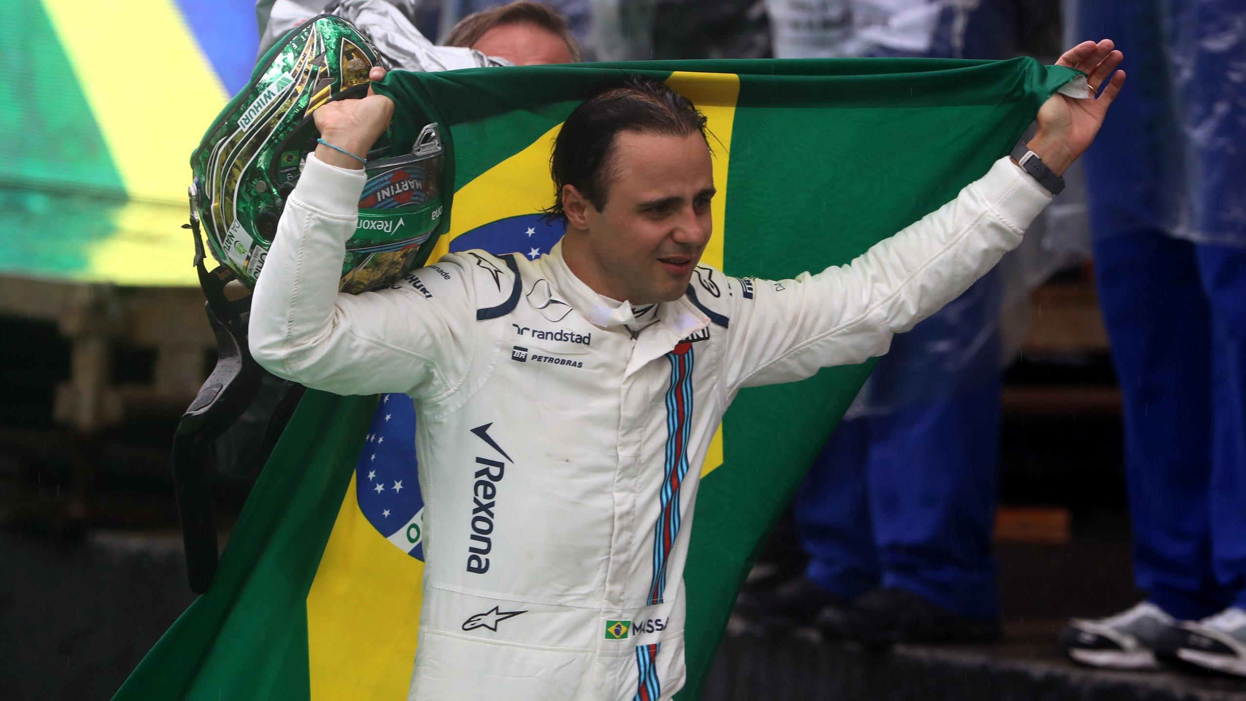 Felipe Massa crying