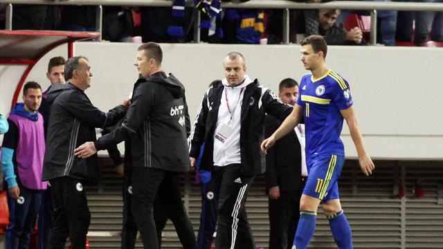 Джеко: «Не понимаю, за что меня удалили. Греки заслужили разгром, и я жду их в Боснии»