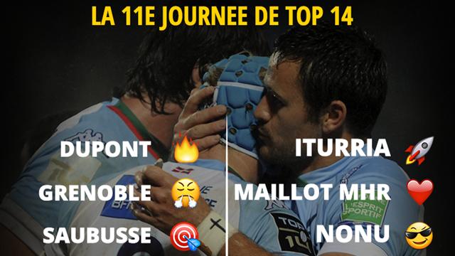 La 11e journée de Top 14 en émojis