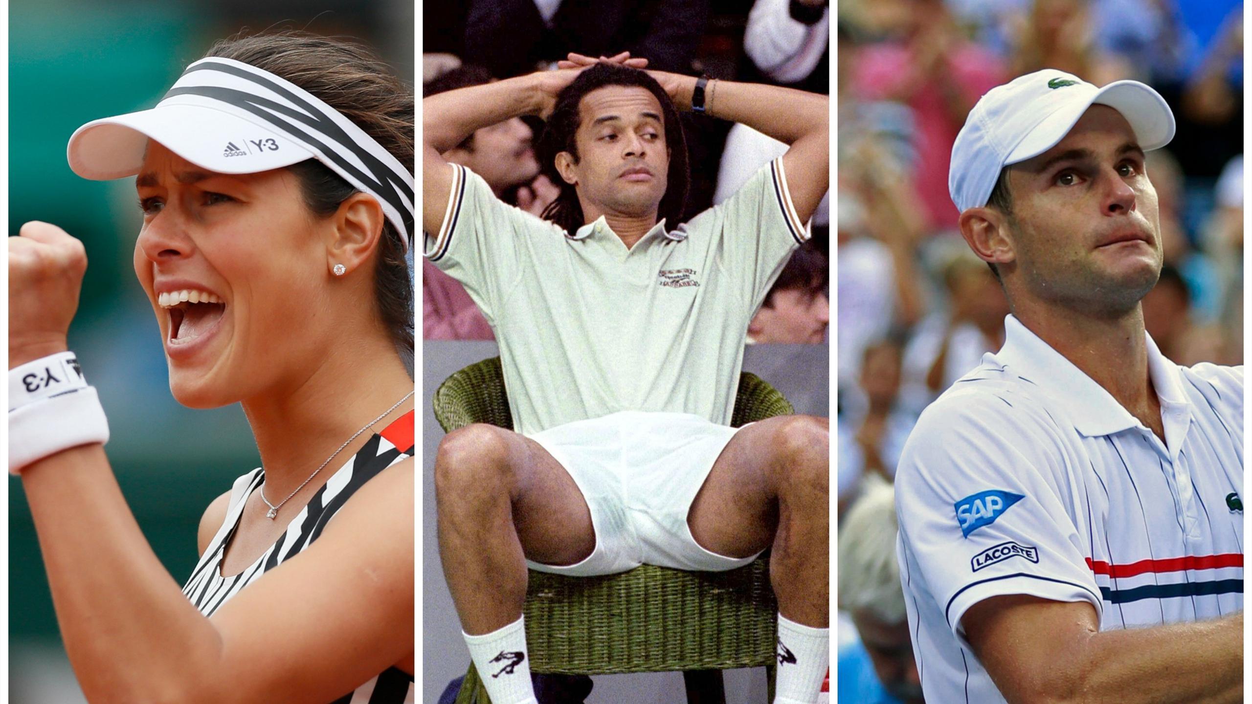 Ana Ivanovic, Yannick Noah and Andy Roddick
