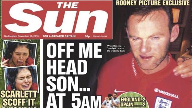 Ubriaco dopo Inghilterra-Scozia, Rooney diventa