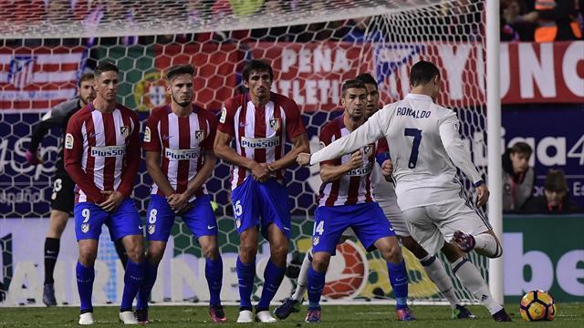 Un coup franc, un penalty et une reprise à bout portant : Ronaldo a fait la complète à l'Atlético