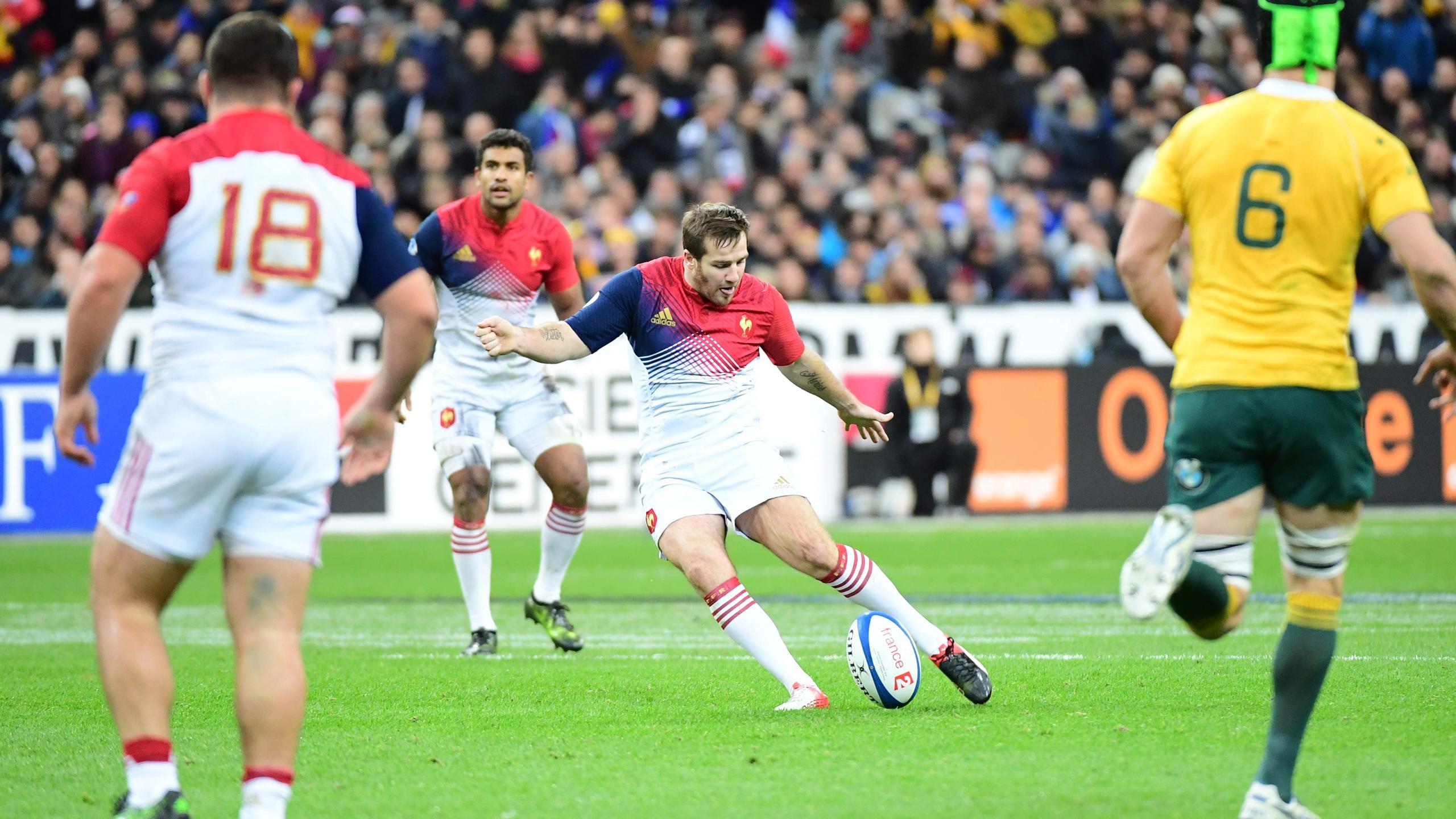 La tentative de drop de Camille Lopez (XV de France) face à l'Australie - 19 novembre 2016