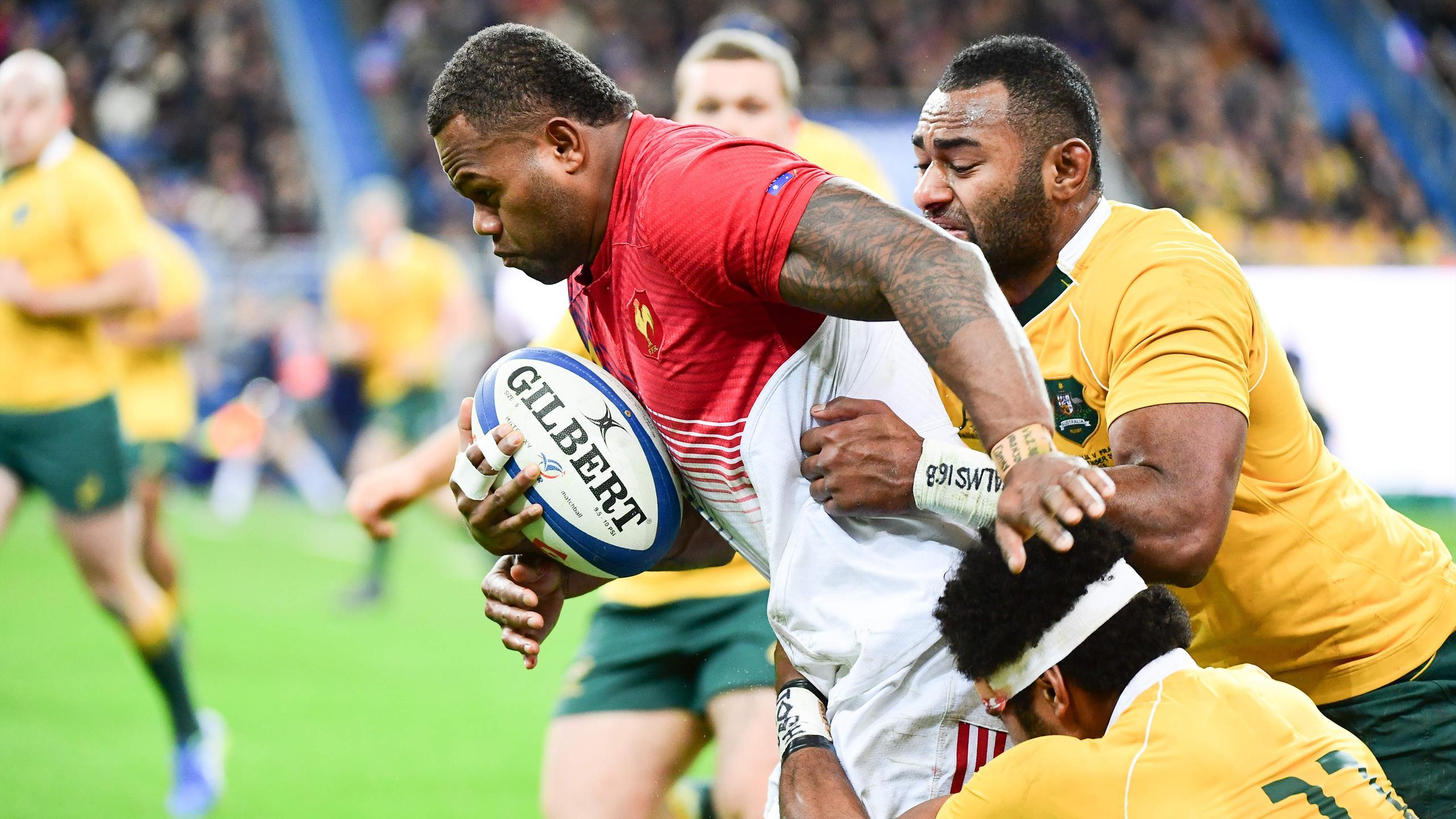 Virimi Vakatawa (XV de France) face à l'Australie - 19 novembre 2016