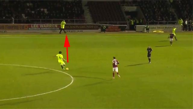 VIDEO: Peterborough player confuses steward for team-mate in hilarious fashion
